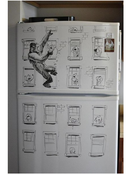 Когда есть маркер, холодильник и воображение (10 фото)