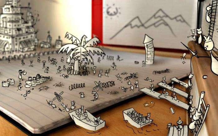 Креативные рабочие столы (21 фото)