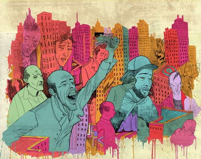 Художник смеется над обществом потребления XXI века