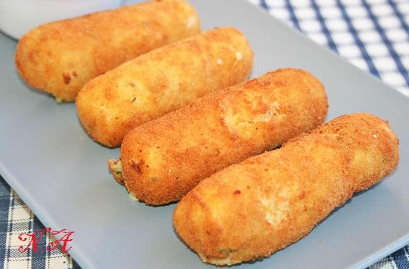Как приготовить картофельные палочки Кулинария,Бекон,Закуски,Картофель,Кухня,Сыр