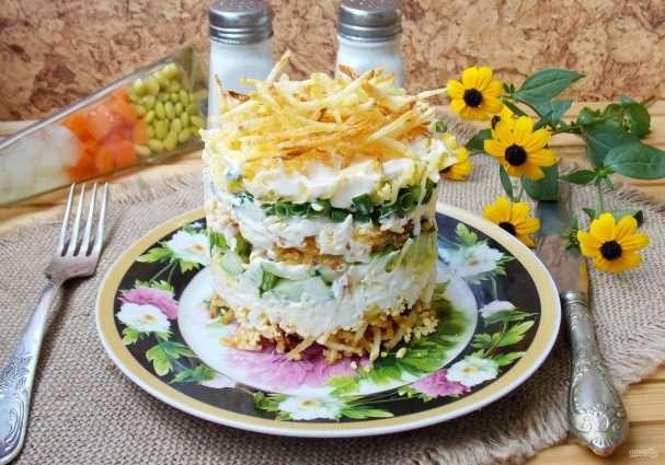 Салат с картошкой пай: рецепт приготовления Кулинария
