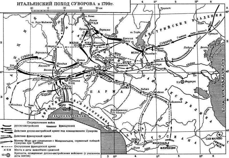 Итальянский поход Суворова Интересное