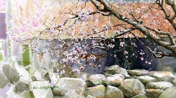 Shin Jong Sik «живые акварели» акварель