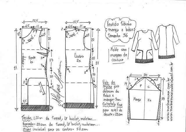 Выкройка шанелевского платья выкройка платья,Одежда,рукоделие,Хенд мейд