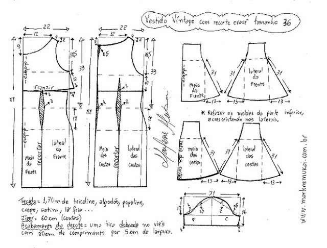 Выкройка расклешенного платья выкройка платья,крой и шитьё,Одежда,платье