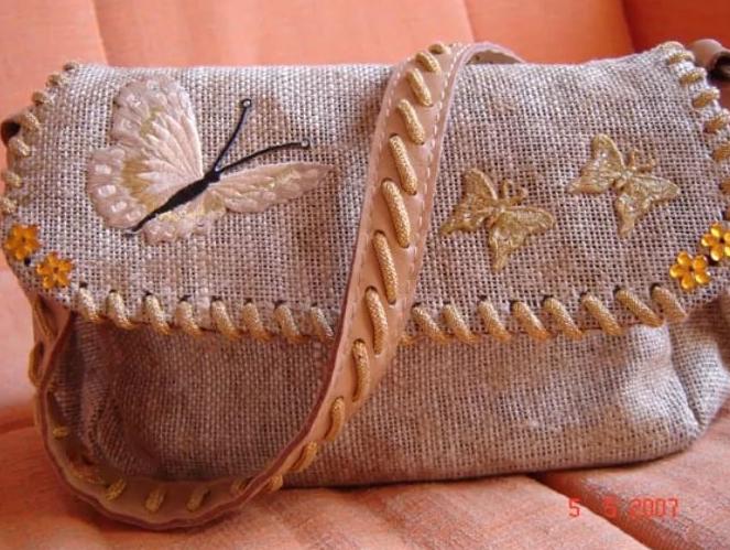 Сумки из мешковины… 50 идей! Да ещё какие… женское хобби,мешковина,рукоделие,своими руками,сумка,шитье
