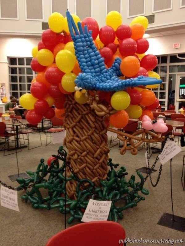 Эйригами – поделки из воздушных шариков домашний очаг,,мастерство,поделки,поделки из шариков,рукоделие,своими руками,творчество,Эйригами